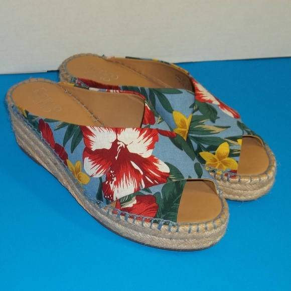 78a4cfbb506 Franco Sarto Shoes - FRANCO SARTO L.Polina Wedge Sandals Beach Shoe 8.5